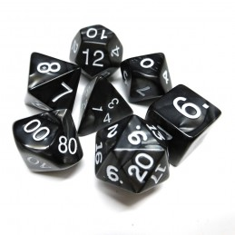 Perlati - Set di dadi (Nero carbone)
