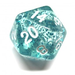 Glitter - Ethereal Set di dadi (Azzurro / Bianco)