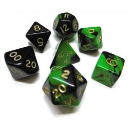 Oblivion - Set di dadi (Verde / Oro)