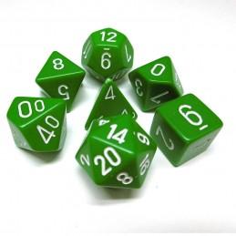 Opachi - Set di dadi (Verde / Bianco)