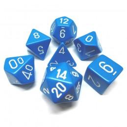 Opachi - Set di dadi (Blu chiaro / Bianco)