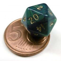 Mini - Set di dadi Interferenz (Verde / Oro)