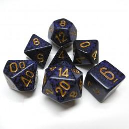 Maculati - Set di dadi (Cobalto dorato)