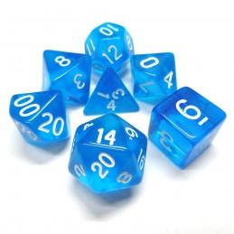 Trasparenti - Set di dadi (Blu chiaro / Bianco)