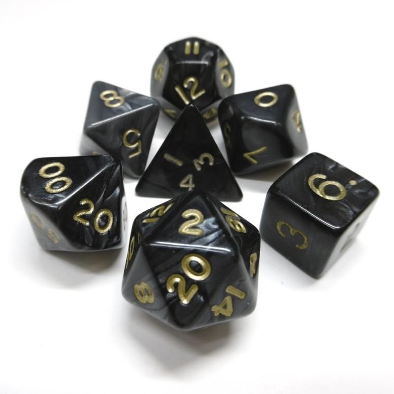 Perlati - Set di dadi (Grigio / Oro)