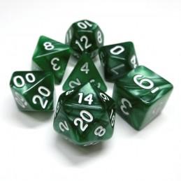 Perlati - Set di dadi (Verde / Oro)