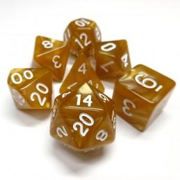 Perlati - Set di dadi (Oro / Bianco)