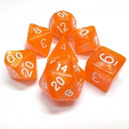 Perlati - Set di dadi (Arancione / Bianco)