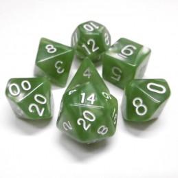 Perlati - Set di dadi (Verde pallido / Bianco)