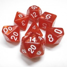 Perlati - Set di dadi (Rosso / Bianco)