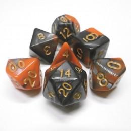 Impressive - Set di dadi (Acciaio / Arancione)