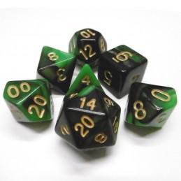 Impressive - Set di dadi (Verde / Nero)