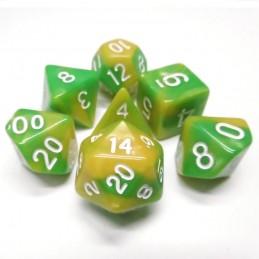 Impressive - Set di dadi (Verde / Giallo)