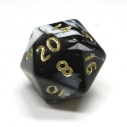 Marmoreo - Set di dadi (Nero / Oro)