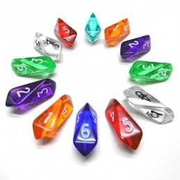 Shard - Set di 12d6 (Trasparenti multicolore)
