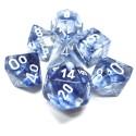Nebulosa - Set di dadi (Blu scuro / Bianco)