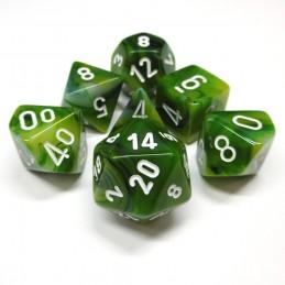 Spettrale - Set di dadi (Verde / Bianco)