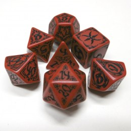 Tribali - Set di dadi (Rosso / Nero)