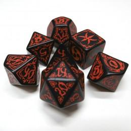 Tribali - Set di dadi (Nero / Rosso)