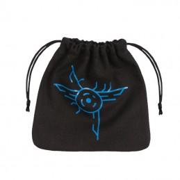 Sacchetto in stoffa con logo: Galattici (Nero-Blu) - 11 x 11 cm