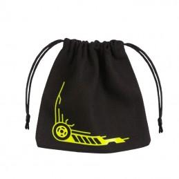 Sacchetto in stoffa con logo: Galattici (Nero-Giallo) - 11 x 11 cm
