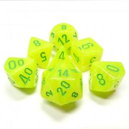 Vortex - Set di dadi (Giallo Elettrico / Verde)