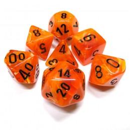 Vortex - Set di dadi (Arancione / Nero)