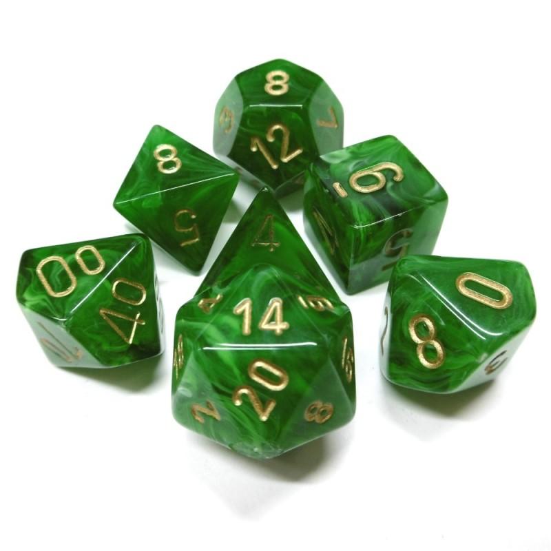 Vortex - Set di dadi (Verde / Oro)