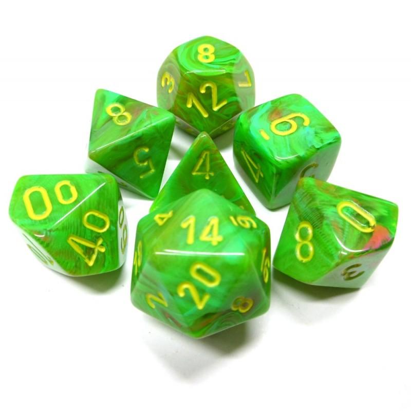 Vortex - Set di dadi (Verde viscido / Giallo)