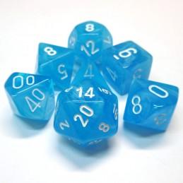 Cirrus - Set di dadi (Blu chiaro / Bianco)