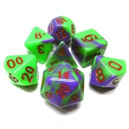 Candy - Set di dadi (Viola / Verde)