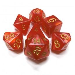 Perlati - Set di dadi (Rosso / Oro)