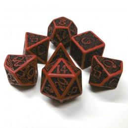 Celtici - Set di dadi (Rosso / Nero)