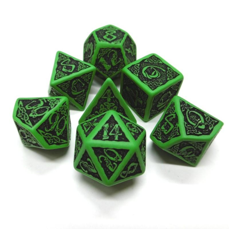 Celtici - Set di dadi (Verde / Nero)