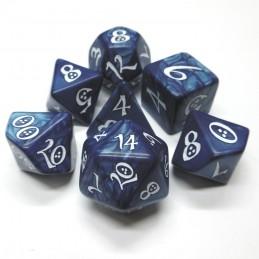 Classici - Set di dadi elfici (Blu Cobalto / Bianco)