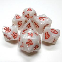 Classici - Set di dadi elfici (Bianco Perla / Rosso)