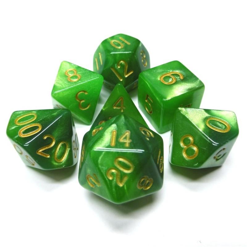 Combo Attack - Set di dadi (Verde / Verde Chiaro)