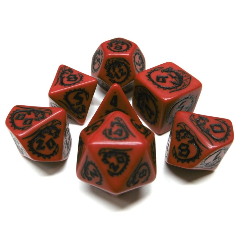 Dragons - Set di dadi (Bianco / Nero)