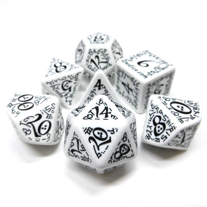 Elfici - Set di dadi (Bianco / Nero)