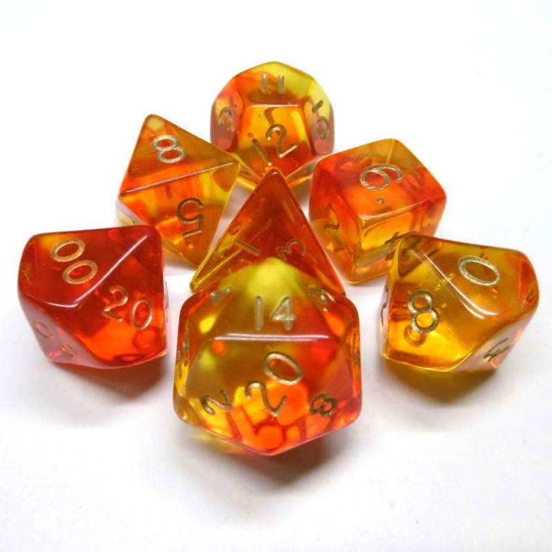 Trasparenti - Set di dadi Gem Blitz (o Elementale / Oro)