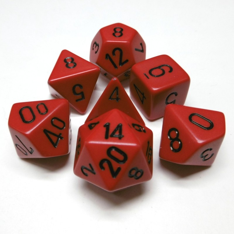 Opachi - Set di dadi (Rosso / Nero)