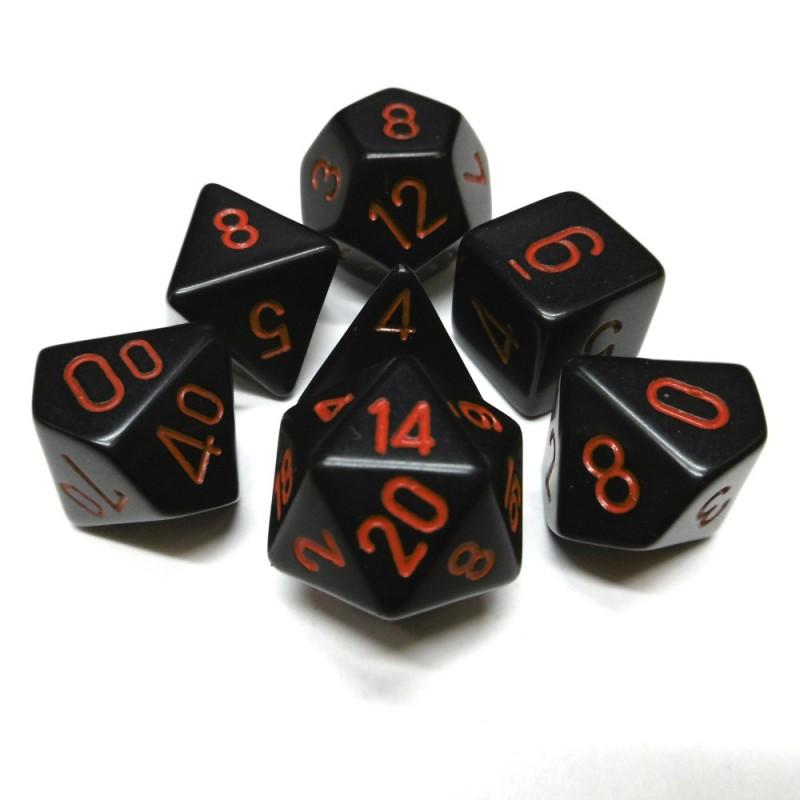 Opachi - Set di dadi (Nero / Rosso)