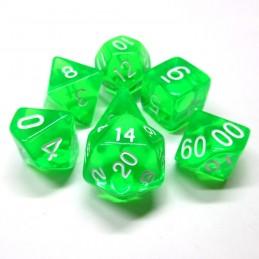 Trasparenti - Set di dadi (Verde chiaro / Bianco)