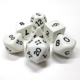 Opachi - Set di dadi (Bianco / Nero)