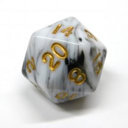 Marmoreo - Set di dadi (Bianco / Oro)