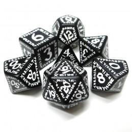 Runici - Set di dadi (Bianco / Nero)