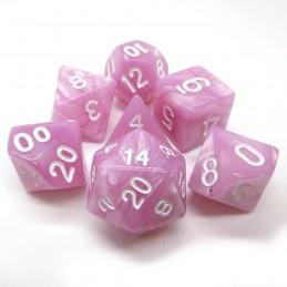 Perlati - Set di dadi (Rosa / Bianco)