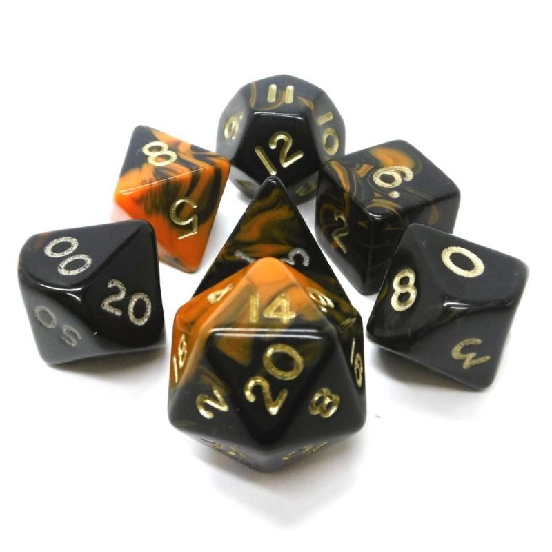 Oblivion - Set di dadi (Arancione / Oro)