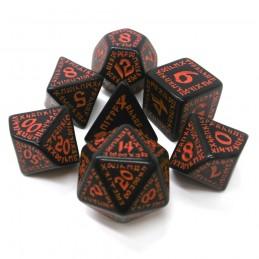 Runici - Set di dadi (Nero / Rosso)