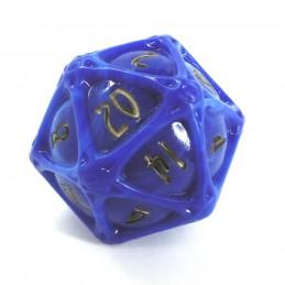 PolyHero - Globo d20: Lapis Lazuli e Oro Scintillante